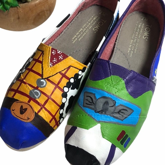 Toms Custom Painted Disney Toy Story